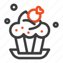 bakery, cake, cup, dessert icon