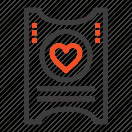 Heart, love, ticket, wedding icon - Download on Iconfinder