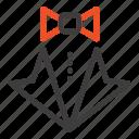 bow, heart, love, suit, tie, wedding icon