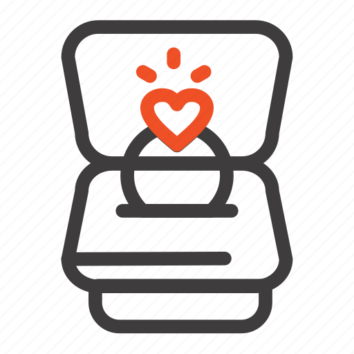 heart, love, ring, wedding icon