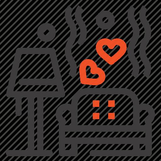 heart, love, lump, sofa, wedding icon