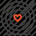 heart, love, target, wedding icon