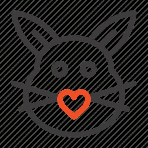 bunny, cute, easter, love, rabbit icon