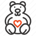 hearts, love, loving, wedding icon