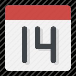 calendar, date, event, heart, love, valentine, valentine's day icon