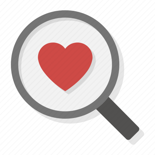 find, heart, love, magnifying, search, valentine, zoom icon