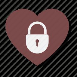 closed, heart, lock, locked, love, password, valentine icon