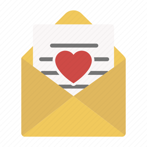 email, envelope, heart, letter, love, send, valentine icon