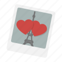 eiffel, hearts, love, paris, photo, romantic, valentine icon