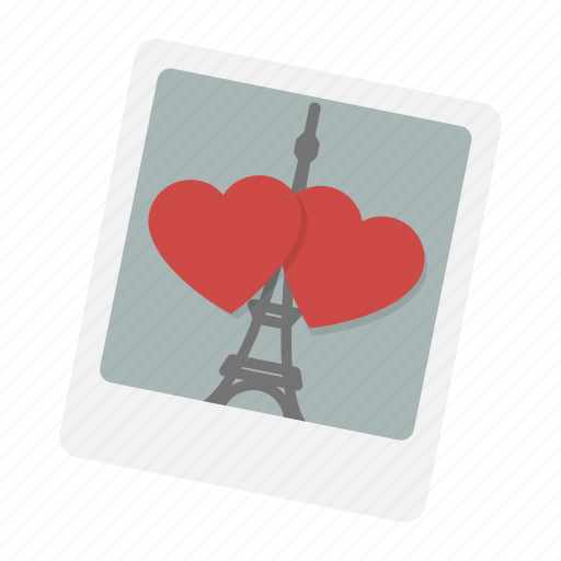 eiffel, hearts, love, paris, photo, romantic, valentine icon