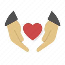 care, hands, heart, love, protection, security, valentine icon