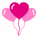 balloon, birthday, decoration, decorative, heart, love, valentine icon