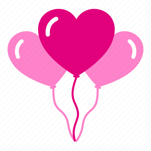 balloon, birthday, decoration, decorative, heart, love, valentine icon