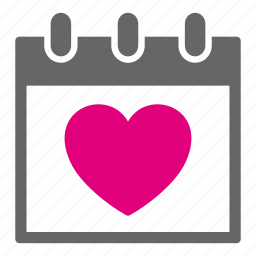 calendar, day, heart, love, lover, schedule, valentine icon
