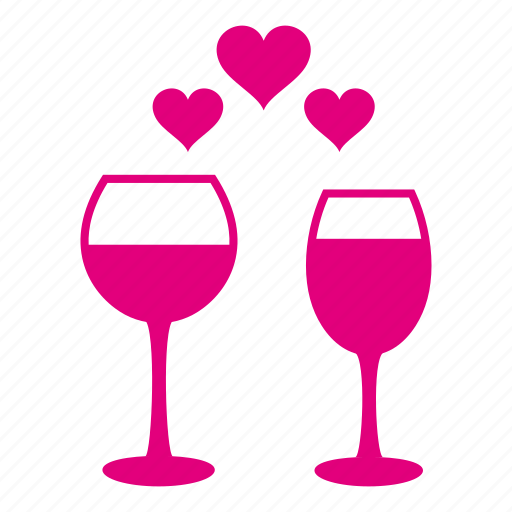 alcohol, alcoholic, heart, love, lovers, romantic, valentine icon