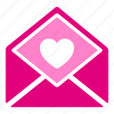envelope, heart, letter, mail, message, romantic, valentine icon