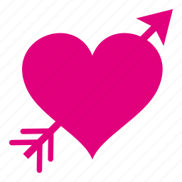 arrow, heart, love, lovers, romance, romantic, valentine icon