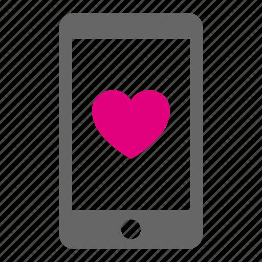 heart, love, phone, romantic, smartphone, talk, valentine icon