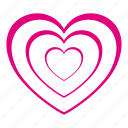 favorite, heart, hearts, love, romantic, valentine icon