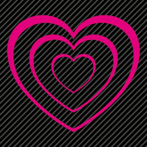 favorite, heart, hearts, love, romantic, valentine icon