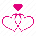 heart, hearts, love, romantic, valentine, valentines, wedding icon