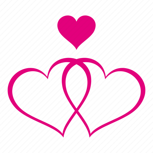 heart, hearts, love, romantic, valentine, valentines, wedding icon