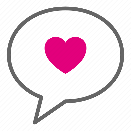 Chat bubble, heart, love, talk, valentine, message, romantic icon - Download on Iconfinder