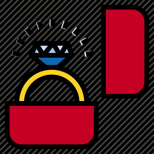 dimon, engagement, ring icon