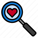 find, love, search icon
