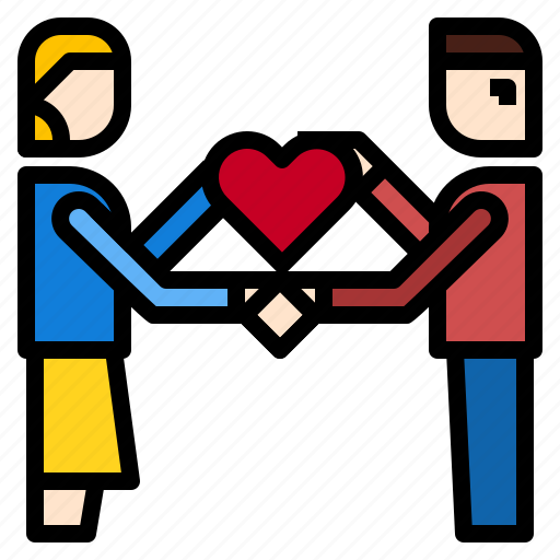 give, heart icon