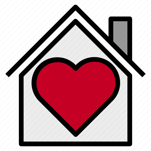 heart, home, in, love icon