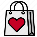 love, shopping, shoppingbag icon