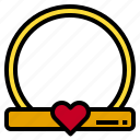 heart, love, ring icon