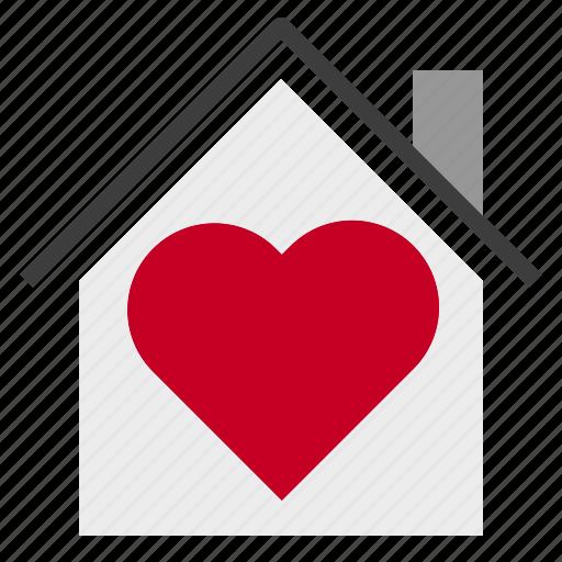 Heart, home, love, valentine icon - Download on Iconfinder