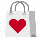 loveshopping, shopping, shoppingbag icon