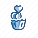 bakery, cupcake, frosting, pastry icon