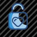lock, love, romance, unlock