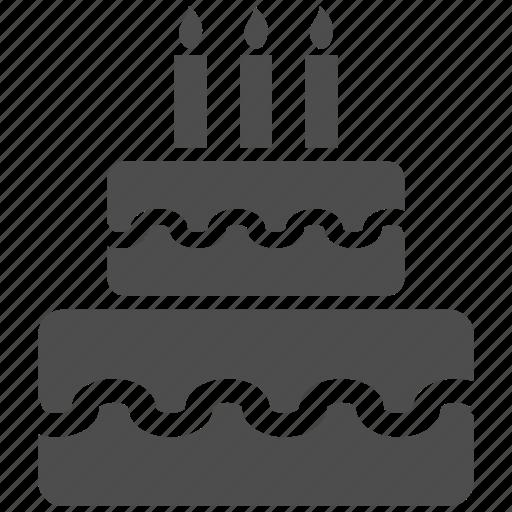 bakery, birthday cake, biscuit, celebration, dessert, pie, sweet icon