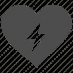 energy, favorite, heart, like, love, power, valentine icon