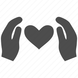 care hands, coverage, gift, heart, love, protect, support icon