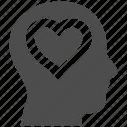 head, heart, love, lover person, romance, romantic, valentine icon