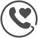 call, connect, connection, contact, love talk, phone, telephone icon