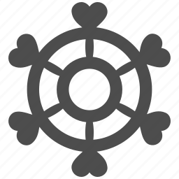 boat, control, lovely, management, rule, steering wheel, strategy icon