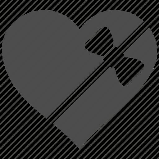 inlove, love heart, ribbon, romantic, tied, valenticons, valentines icon