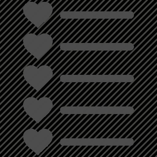 checklist, favourites, form, items, menu, task list, test icon
