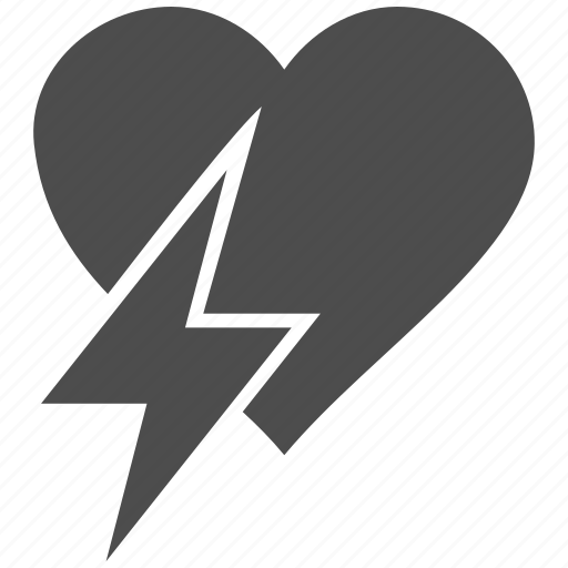 break, breaking, couple conflict, divorce, heart shock, rejection, separation icon