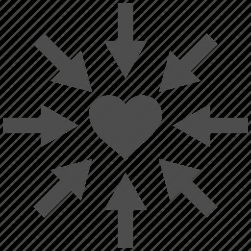impact, inlove, love heart, romantic, valentine, valentines, wedding icon