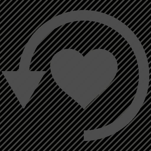 inlove, love heart, refresh, romantic, update, valentines, wedding icon