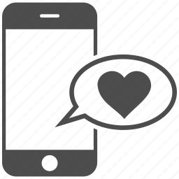 communication, heart, love message, mobile, phone, smartphone, sms icon