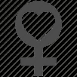 female, fertility, girl, lady, love symbol, venus, woman icon